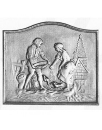 Plaque de cheminée Basse Cour