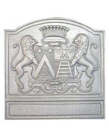 Plaque de cheminée Blason aux lions