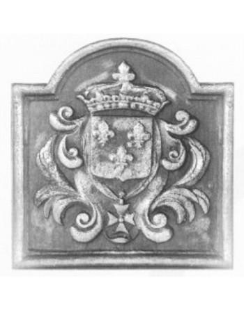 Plaque de cheminée Blason Couronne