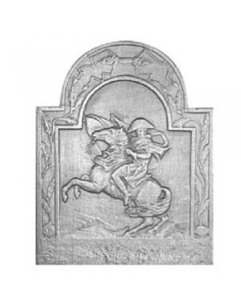 Plaque de cheminée Cavalier de l'empire