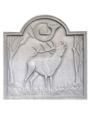Plaque de cheminée Cerf au Bois