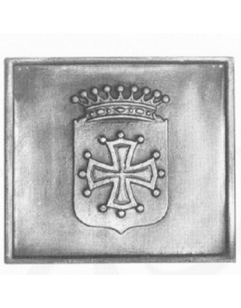 Plaque de cheminée Croix du Languedoc