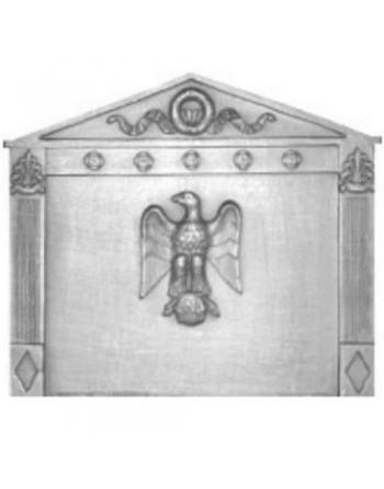 Plaque de cheminée Empire Aigle