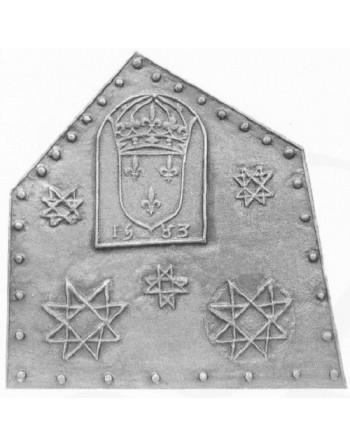 Plaque de cheminée Henri 3