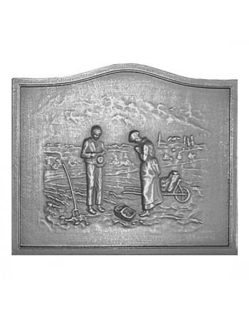 Plaque de cheminée L'Angélus