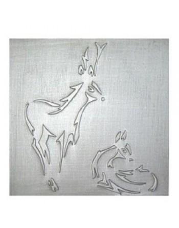 Plaque de cheminée Le Cerf et La biche