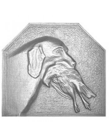 Plaque de cheminée Le chien et sa proie