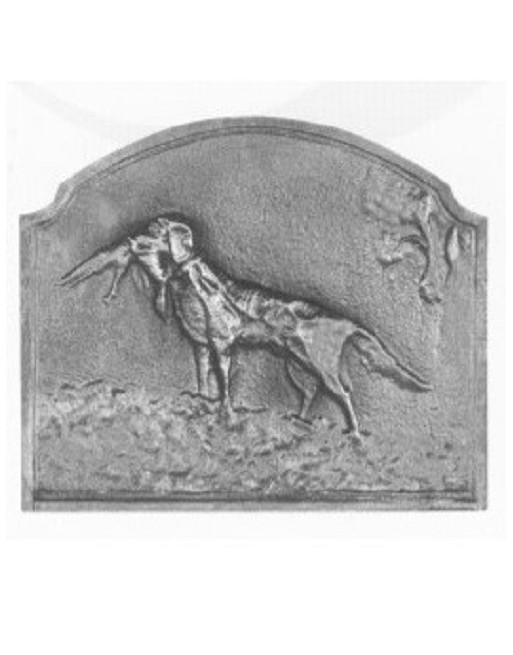 Plaque de cheminée Le chien Verif
