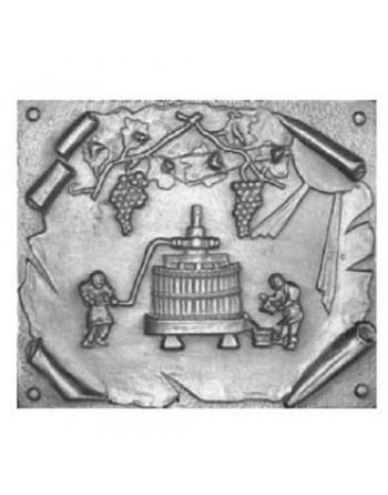 Plaque de cheminée Le pressoir PM