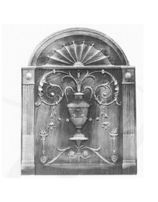 Plaque de cheminée Le vase Fleuri