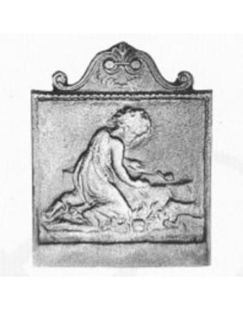 Plaque de cheminée L'enfant et l'escargot