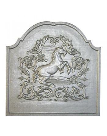 Plaque de cheminée Licorne