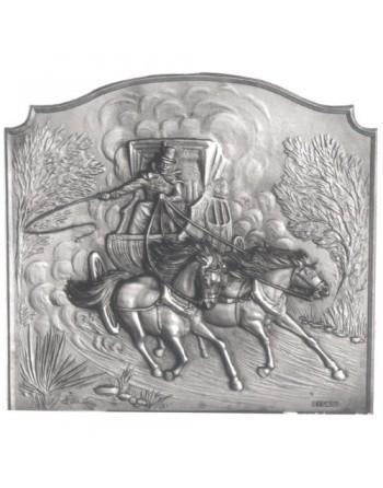 Plaque de cheminée Malle Poste