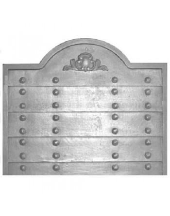 Plaque de cheminée Rustique à clous sans anneaux