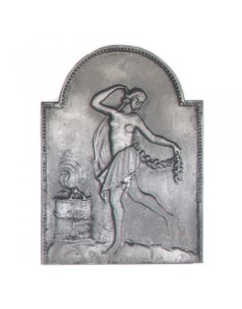 Plaque de cheminée Vesta Gardienne du Feu