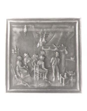 Plaque de cheminée Veillée