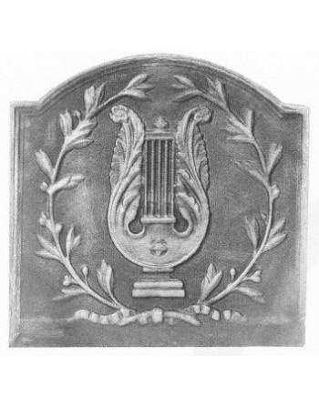 Plaque de cheminée La lyre