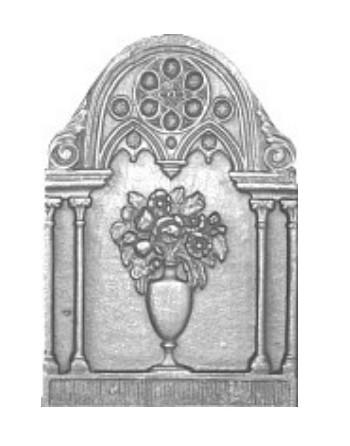 Vase Fireplace Plate